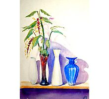 That wonderful exotic ginger flower and which vase? Photographic Print