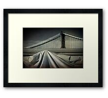 Bridges shapes Framed Print