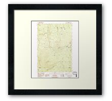 USGS Topo Map Oregon Pinhead Buttes 281100 1986 24000 Framed Print