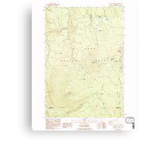 USGS Topo Map Oregon Pinhead Buttes 281100 1986 24000 Canvas Print