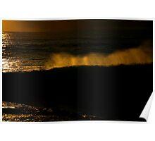 sunrise wave. tasmania Poster