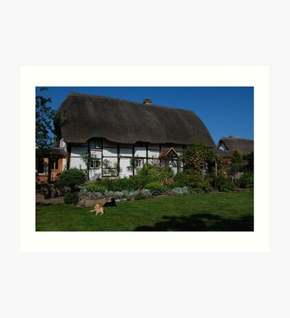 Thatched Cottage Art Print
