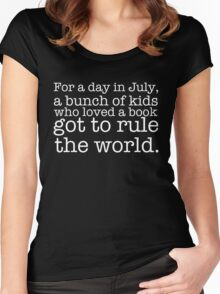A Bunch of Kids Who Loved a Book Got to Rule the World. Women's Fitted Scoop T-Shirt