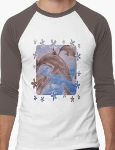 Dolphin Splash Men's Baseball ¾ T-Shirt