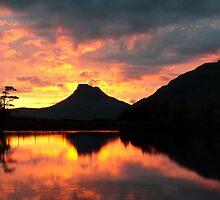 Sunset over the loch by chriscyner