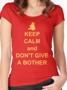 Keep Calm and Don't Give a Bother Women's Fitted Scoop T-Shirt