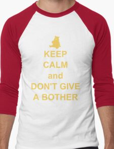 Keep Calm and Don't Give a Bother Men's Baseball ¾ T-Shirt