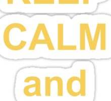 keep calm and dont give a bother Sticker