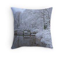 Winter at Water#2 Throw Pillow