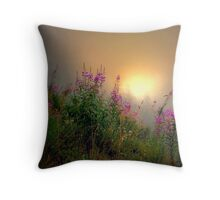 Cascades Fog and Fireweed Throw Pillow