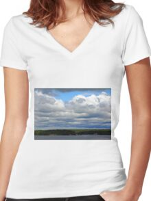 Cloud Cover Women's Fitted V-Neck T-Shirt