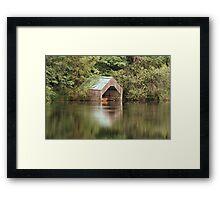 Loch Ard Boathouse Framed Print