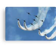 Red Arrows ~ Lyme Regis Canvas Print