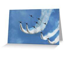 Red Arrows ~ Lyme Regis Greeting Card