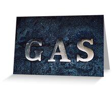 Gas Greeting Card