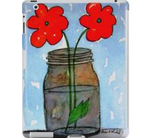 Watercolor Flowers in Mason Jar iPad Case/Skin