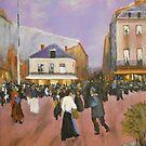 A Parisian Square, Paris 1890 from Luigi Loir by Jsimone