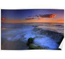 Beach Waterfall Poster