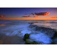 Beach Waterfall Photographic Print
