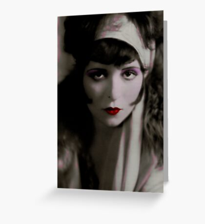 The Great Clara Bow Greeting Card