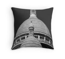 The Basilica of the Sacred Heart of Paris Throw Pillow