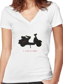 I love my vespa Women's Fitted V-Neck T-Shirt