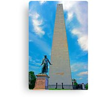 Bunker Hill monument Canvas Print