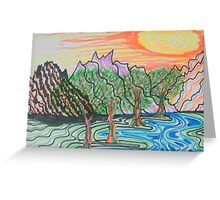 Sunset and the Stream Greeting Card