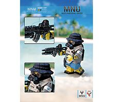 MNU diving suit 2 Photographic Print
