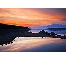 fire on the sky  Photographic Print