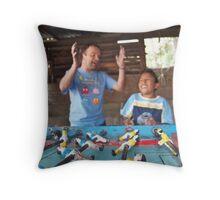 Table Soccer in La Puri Throw Pillow