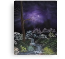 Misty Shropshire Waterfall Canvas Print