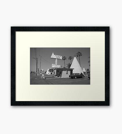 Route 66 - Wigwam Motel Framed Print