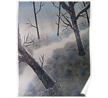 Snowy Shropshire Woodland Poster