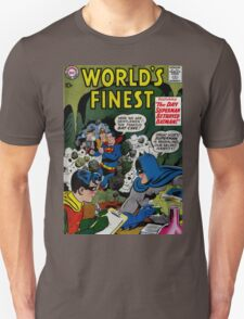 World's Finest Superman vs Batman Classic Comic Cover T-Shirt