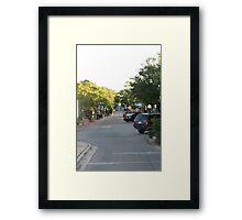 Sunrise Over Downtown Framed Print