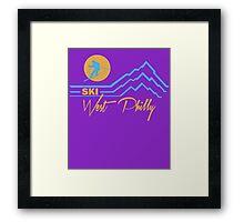 Ski West Philly Framed Print