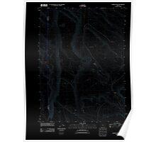 USGS Topo Map Oregon Chimney Rock 20110816 TM Inverted Poster