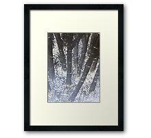 negative woods Framed Print