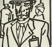 Drawing: Film Noir IV (2014) (Born to Kill) by artcollect