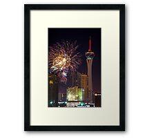 Vegas 4th Framed Print
