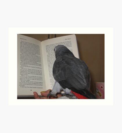 Even Rex reads ! Art Print