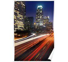 Downtown L.A. 110 Freeway Night Poster