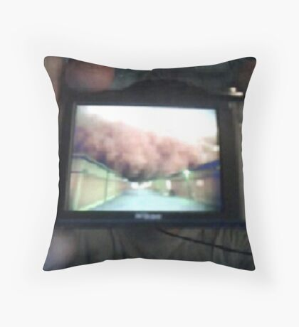 Our War Project_Skype Video Call Snapshot March 25 2011 Throw Pillow