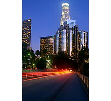 Downtown Los Angeles at Night Photographic Print