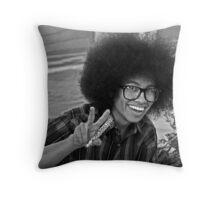 Retro Afro Throw Pillow