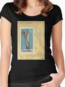 The Hermit Tarot Card Fortune Teller Women's Fitted Scoop T-Shirt