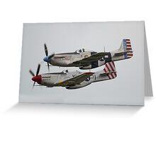 North American P-51 Mustangs Greeting Card