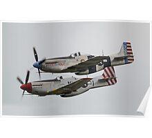 North American P-51 Mustangs Poster