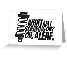 What am I scraping on? Greeting Card